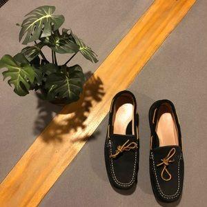 Lands' End Black Suede Shoes Women's Size 9.5 B